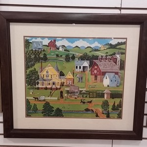 Folk Art Farm Scene