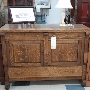 Antique Tiger Oak Server