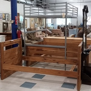 Wood Bunk and Metal Loft Beds