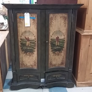 Small Painted Armoire