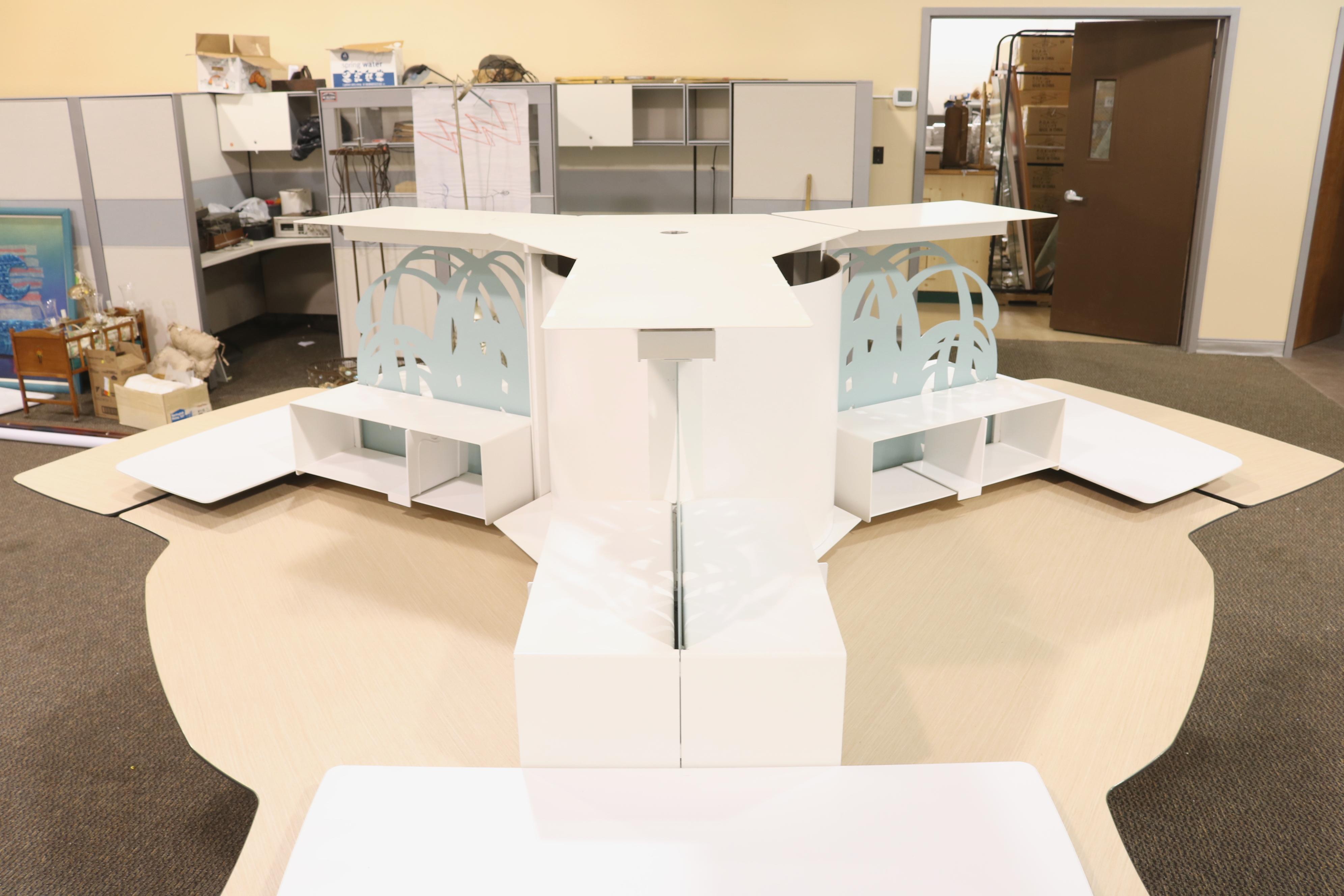 Kimball Bedroom Furniture Kimball Office Furniture 3 Person Workstation Morris Habitat For