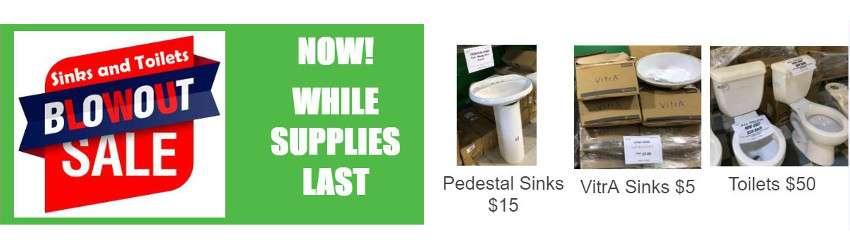Sinks & toilets sale