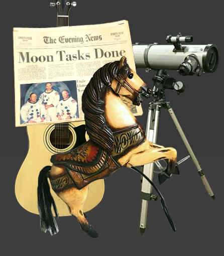 guitar horse telescope